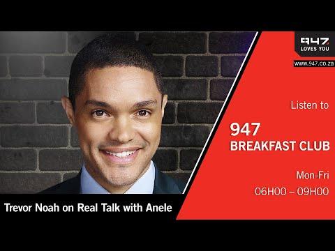 Trevor Noah on Real Talk with Anele