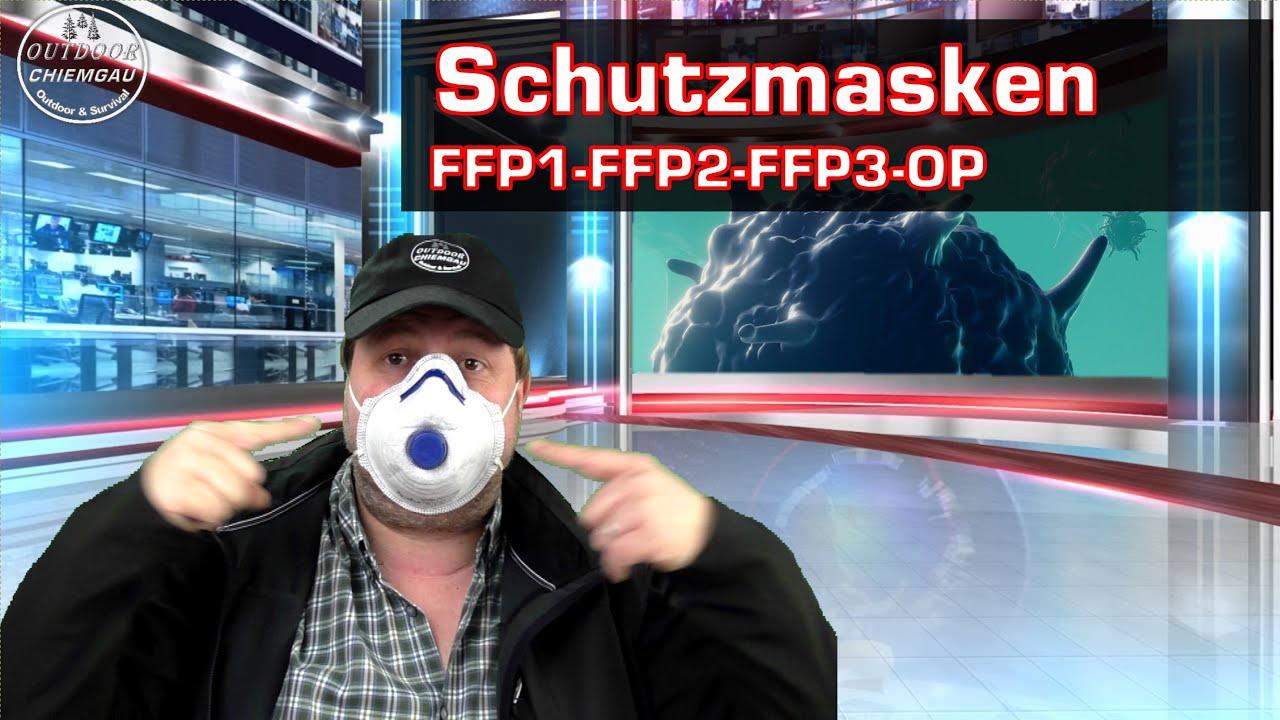 Schutzmasken: OP-Maske - FFP1 - FFP2 - FFP3 - Vollmaske ...