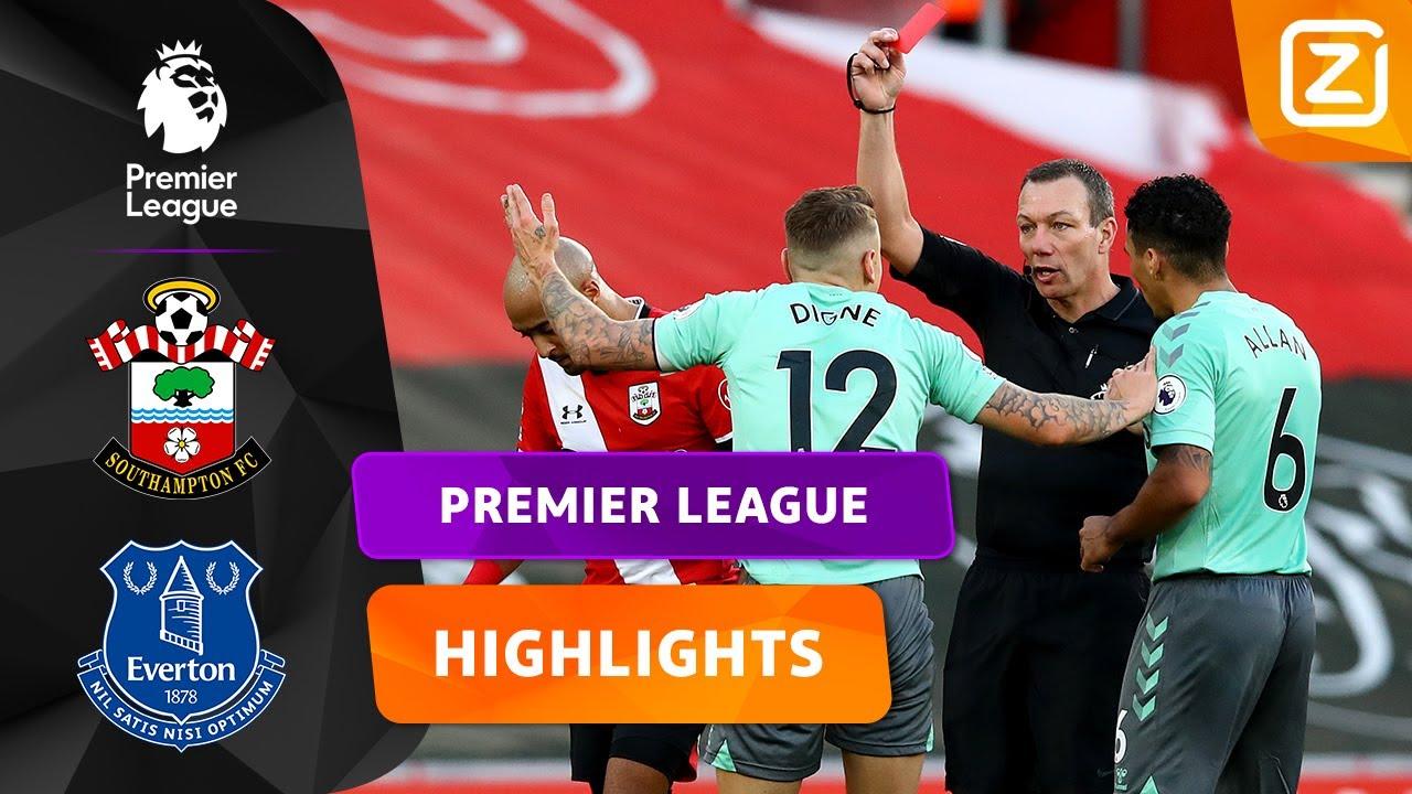 DIGNE FURIEUS NA RODE KAART! 🤬 | Southampton vs Everton | Premier League 2020/21 | Samenvatting