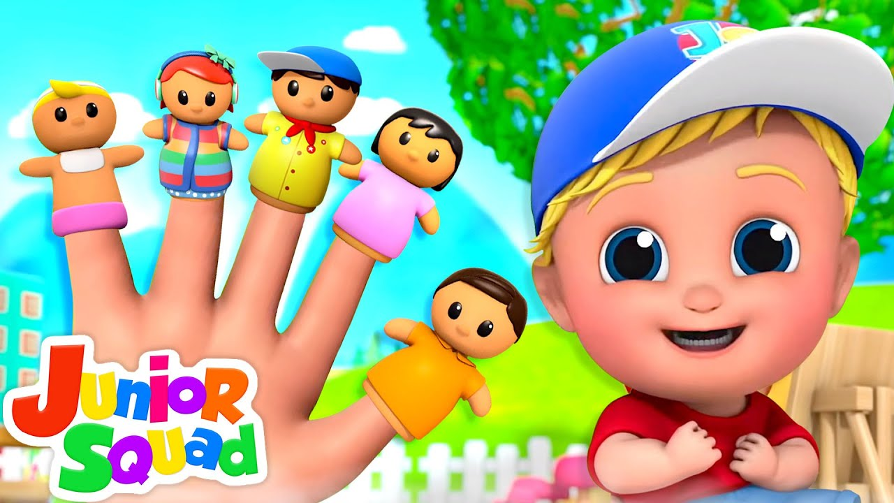 The Finger Family Song | Baby Finger | Daddy Finger | Nursery Rhymes and Kids Song with Junior Squad
