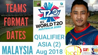 ICC World T20 Qualifier 2018 Asia Eastern Region Format Teams | ICC WT20 2018 Schedule Venue English