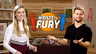 America s Got Talent s Drew Lynch Challenges Foosball Champion Kelsey Cook Wrists of Fury