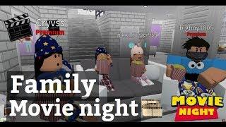 Roblox Bloxburg| Family Movie Night Routine