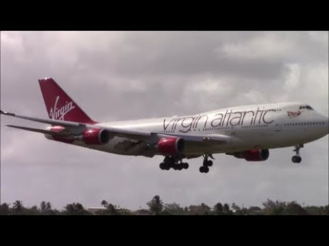 40+ Minutes of Plane Spotting at Barbados Grantley Adams Air
