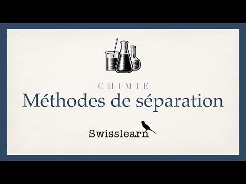 Méthodes de separation des mélanges homogènes et hétérogènes