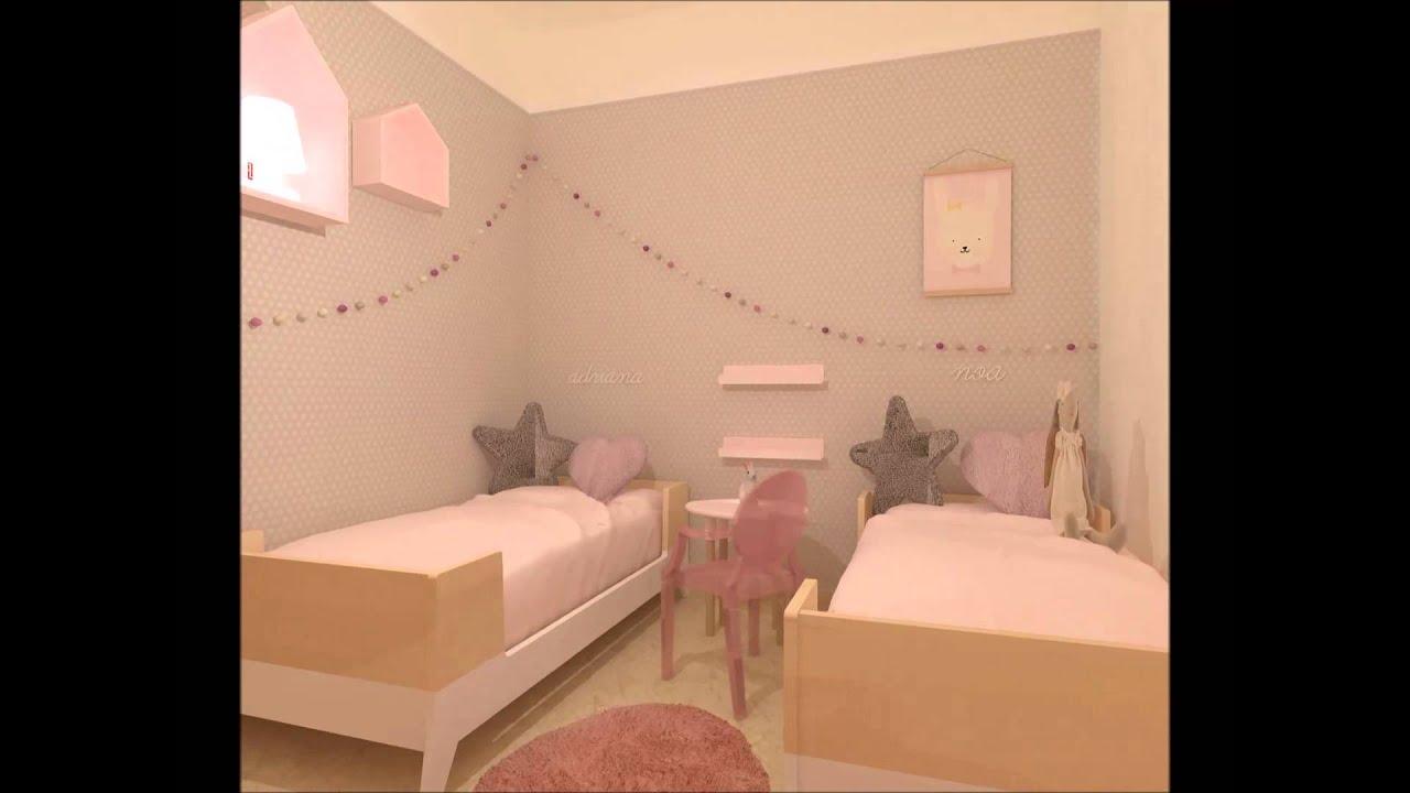 papel pintado para habitacion nia