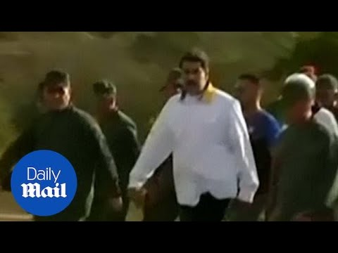 Maduro meets with soldiers in Venezuela in show of strength