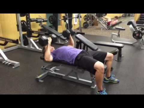Taylor Performing DB Bench Press