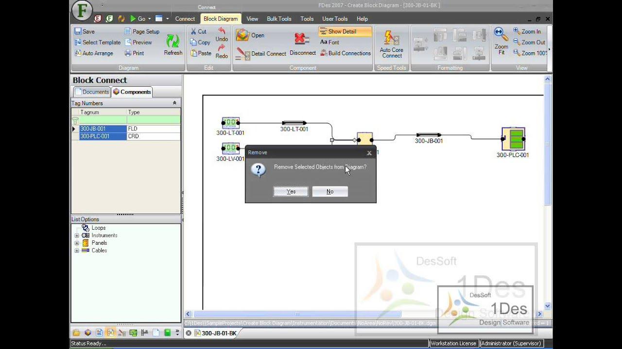 e04 create cable block diagram - Cable Diagram Software
