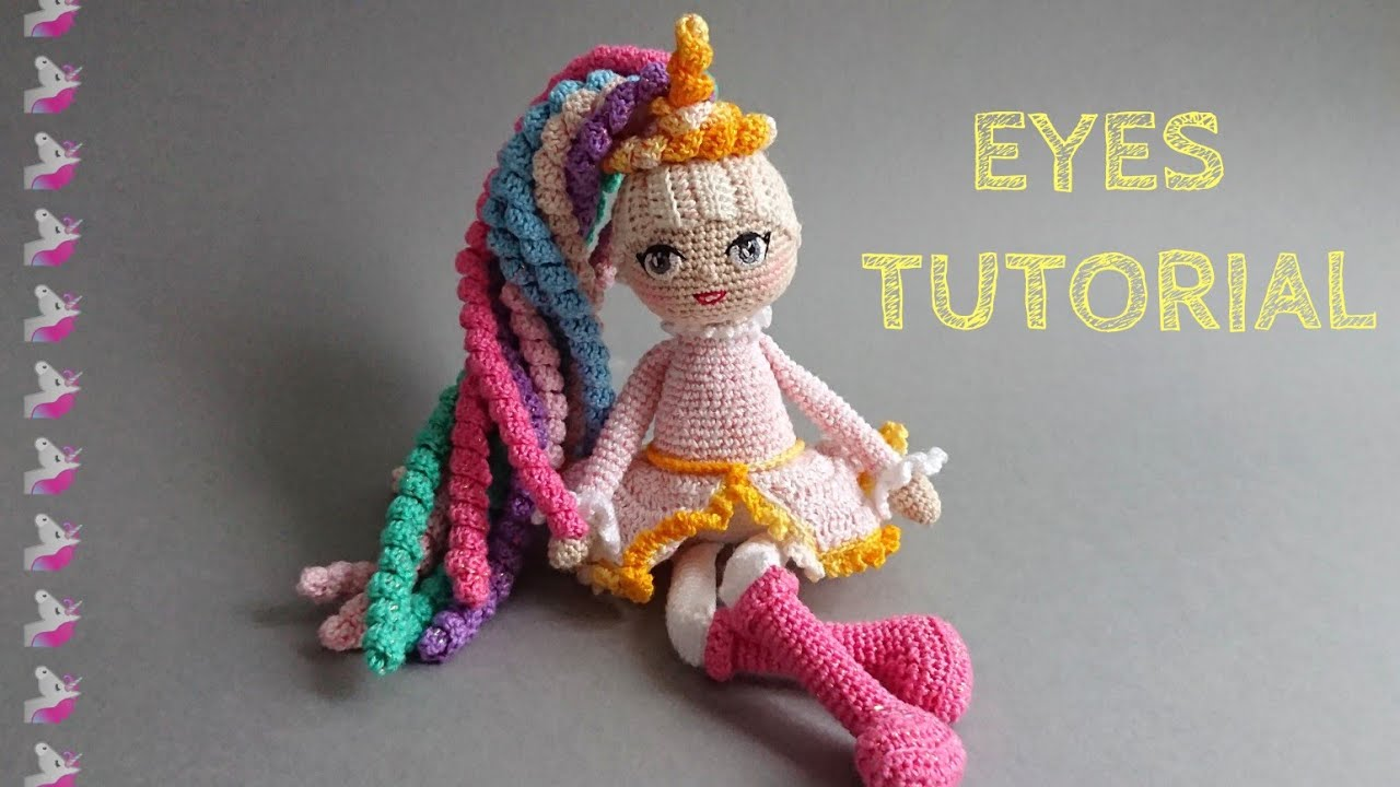 Amigurumi how to embroider eyes shown in photos. | Crochet eyes ... | 720x1280