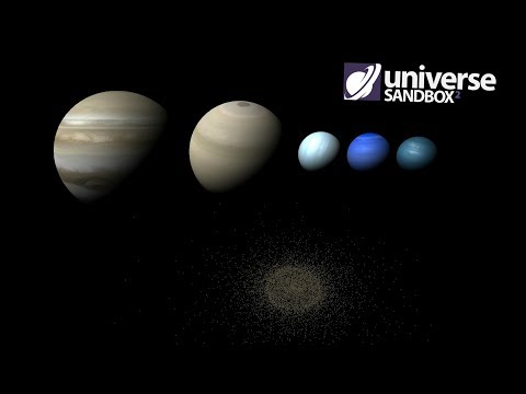 What If All The Gas Giants Were In The Kuiper Belt, Universe Sandbox ²