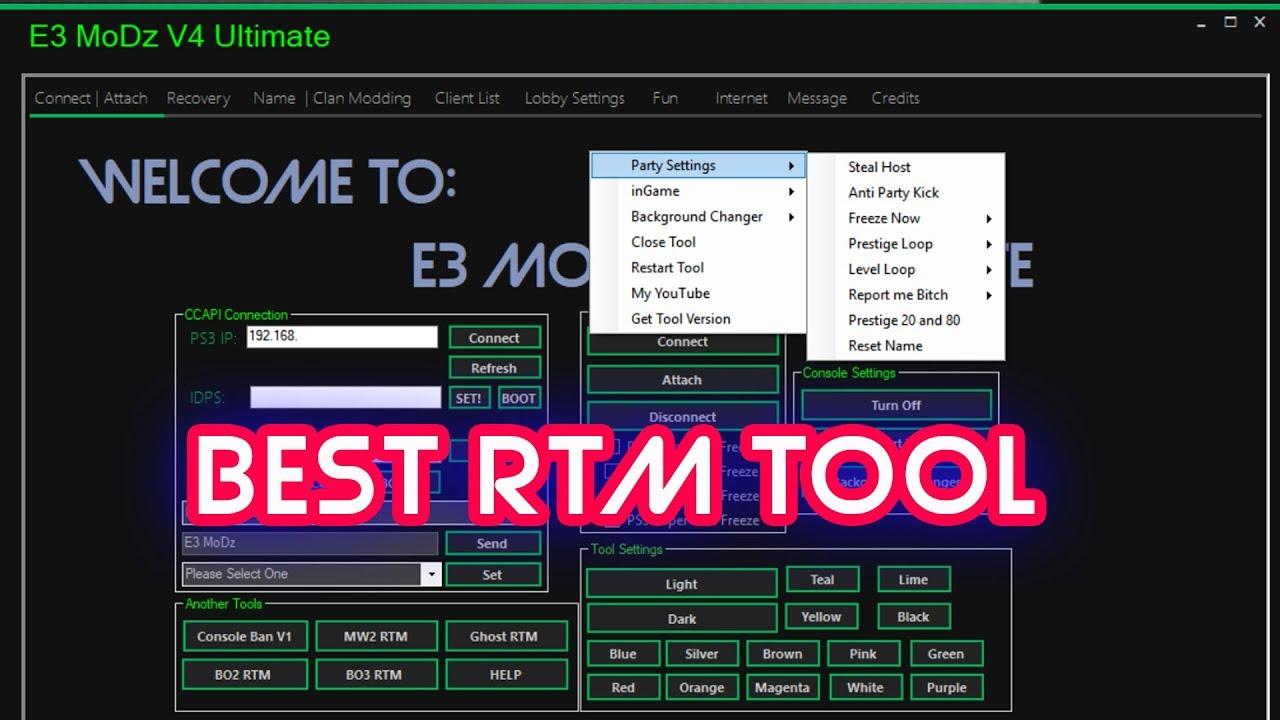 E3 MoDz V4 BEST MW3 RTM TOOL!!!