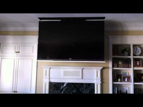 """motorized-70""""-led-flat-panel-tv-disappears-into-ceiling"""