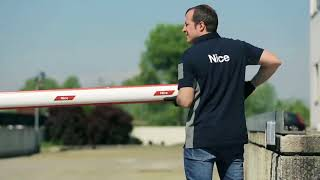 Video: Bariera completa acces stradal Nice WIDEM 4M, 140 N, 230 V