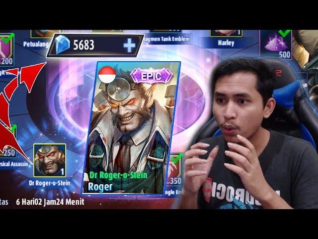5600 DIAMOND UNTUK LUCKY BOX ROGER EPIC SKIN ! LANGSUNG TRIPLE KILL - Mobile Legends Indonesia