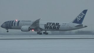 ANA All Nippon Airways R2D2 Star Wars B787-9 Dreamliner Landing at Munich Airport