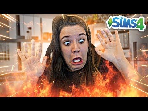 MINHA CASA PEGOU FOGO! - Do Lixo ao Luxo 2 (The Sims 4) thumbnail