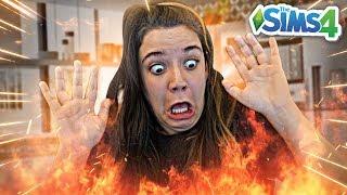 MINHA CASA PEGOU FOGO! - Do Lixo ao Luxo 2 (The Sims 4)