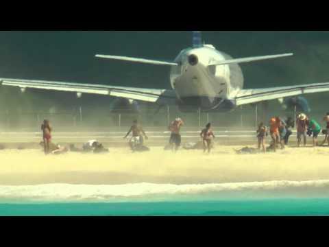 Maho Beach Plane Taking Off!