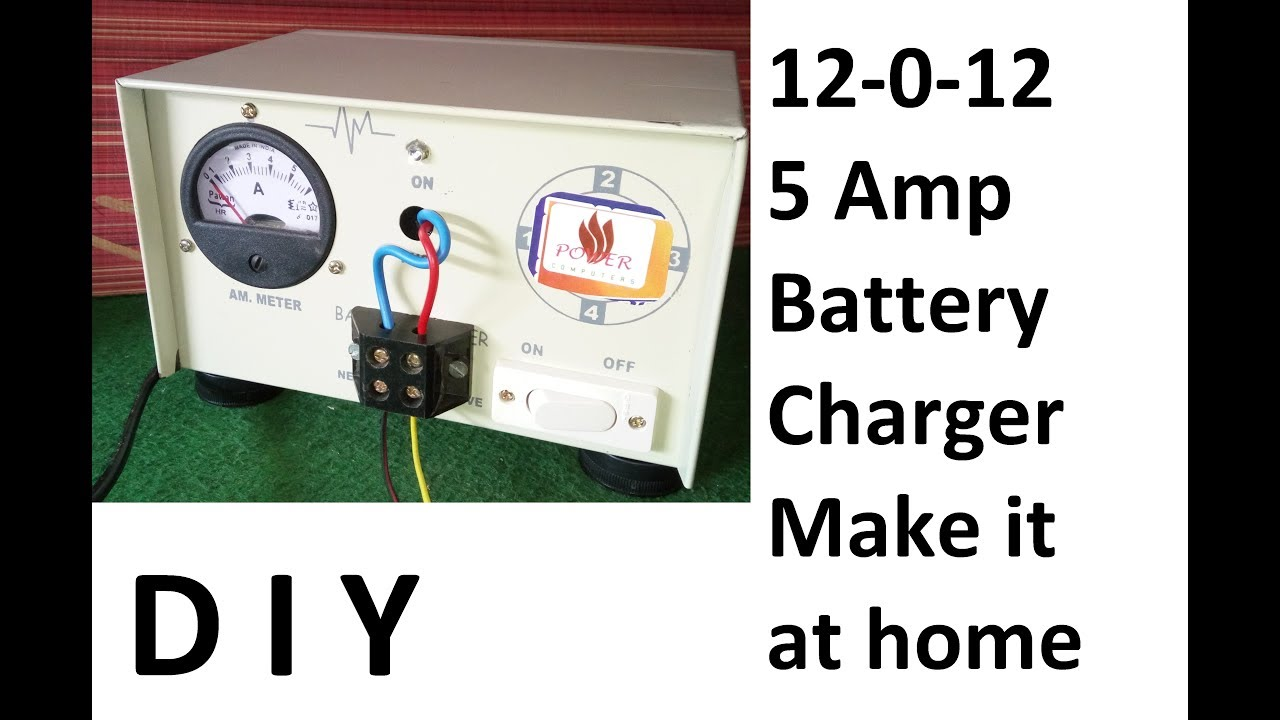 how to make a battery charger at home