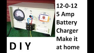 Battery charger 12V 5 AMP at home || DIY battery charger using transformer