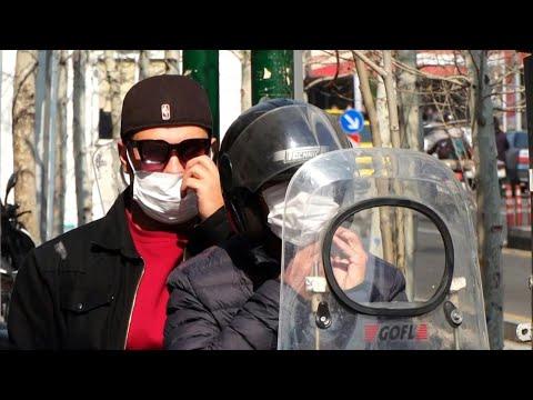 Coronavirus Covid-19: des Iraniens portent des masques dans les rues de Téhéran | AFP News