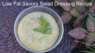 Low Fat Creamy Avocado Cucumber Herb Dressing Recipe (oil Free)