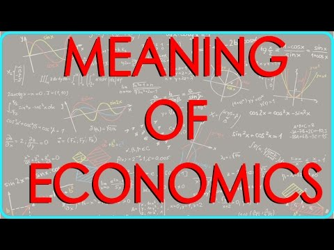 Meaning of Economics