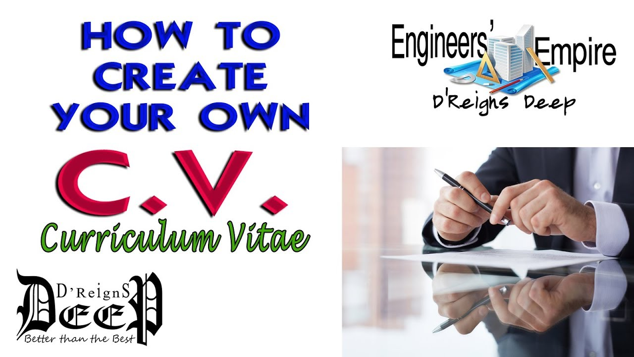 1 how to create your own cv