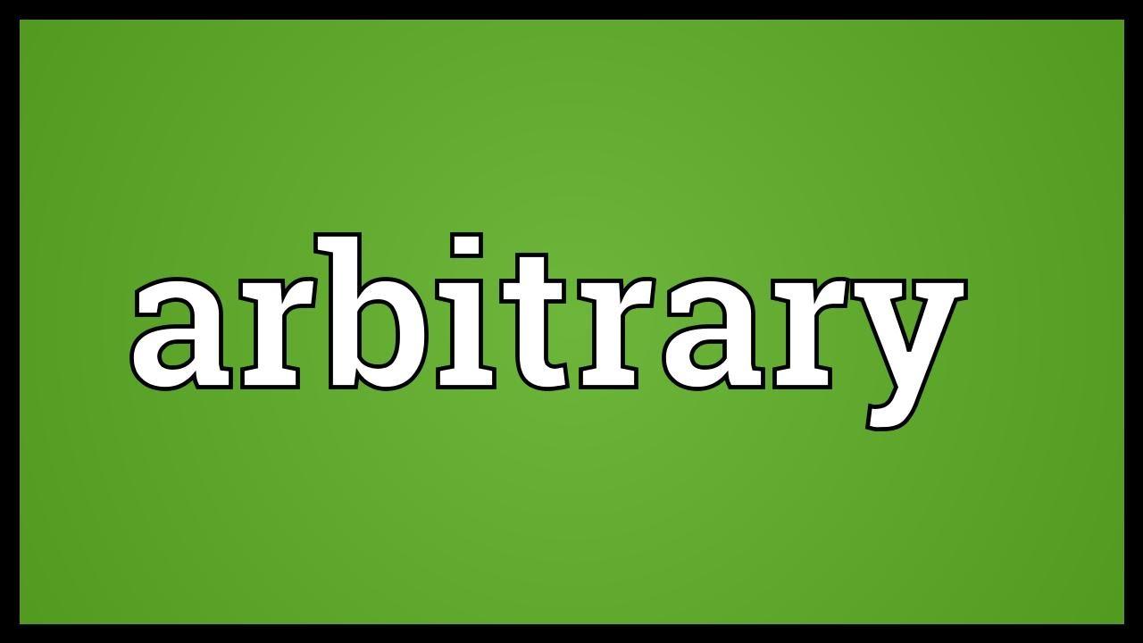 Arbitrary Meaning - YouTube