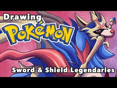 Pokemon SwSH - Drawing Zacian & Zamazenta!