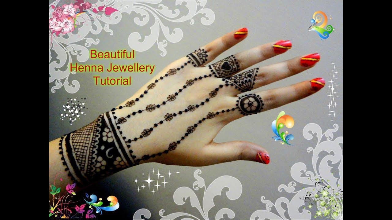 Henna Jewellery Mehndi : Hand jewellery henna tutorial makedes.com