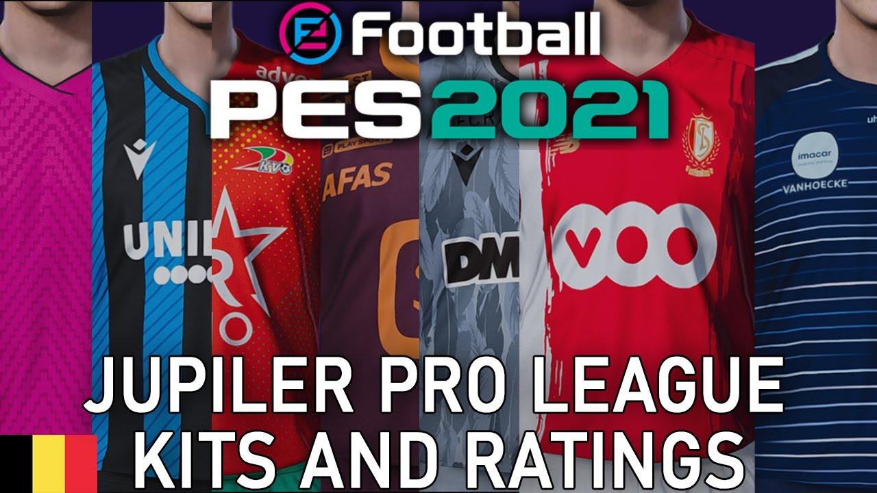 Pes 2021 Jupiler Pro League Kits And Ratings Youtube
