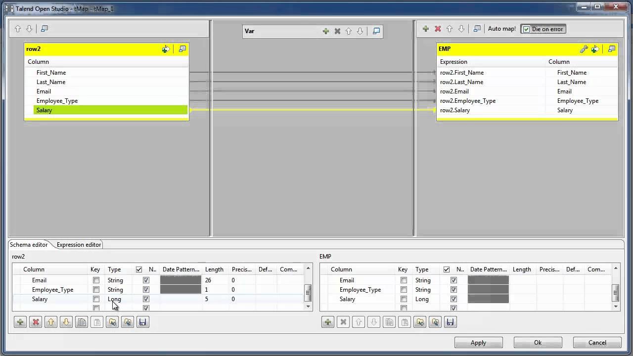 Talend Open Studio Using tConvertType