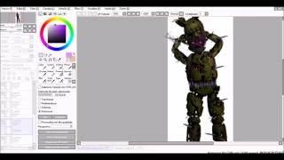 [ FNAF | Speed Edit] - Making Purple Guy in Springtrap