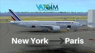 [FSX] Air France 23 | New York - Paris | PMDG 777-200LR | VATSIM