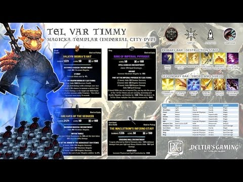 Magplar Imperial City Tel Var Farming Build for One Tamriel [Tel Var Timmy]