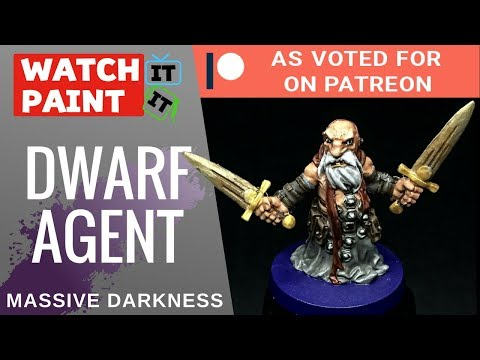 Massive Darkness - Painting Dwarf Agent