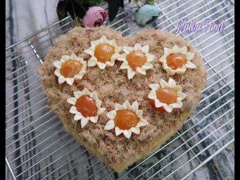 Bánh bông lan mềm xốp, làm thành công 100% || Salted Egg Sponge Cake ||  Natha Food