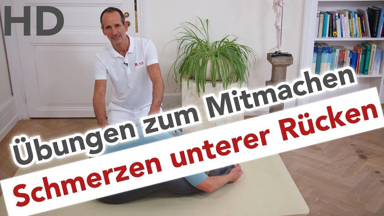 Super Schmerzen unterer Rücken Übungen zum Mitmachen // Rückenschmerzen &ZA_86