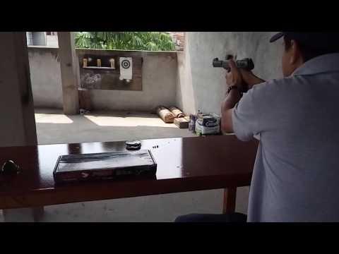 Testando a pistola gamo p 900