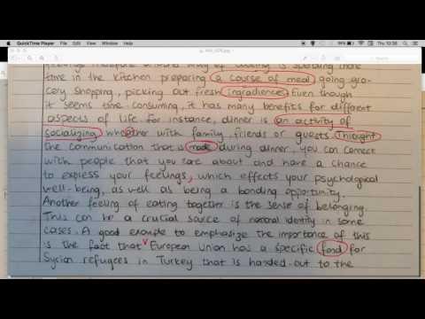 Feedback on C2 level writing
