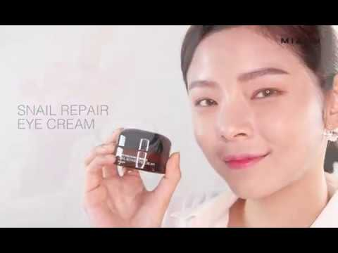 【韓國MIZON】蝸牛精華修護保濕眼霜25ml | 使用示範