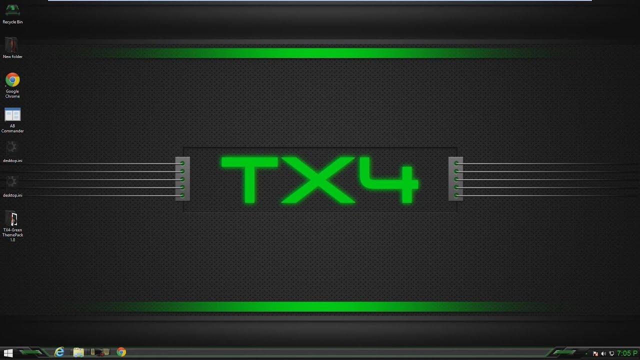 Google themes windows 10 - Tx4 Green Theme For Windows 7 8 10
