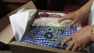 распаковка посылки из интернет магазина Зара