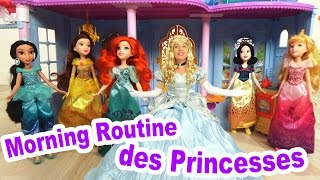 MORNING ROUTINE des PRINCESSES DISNEY au château !