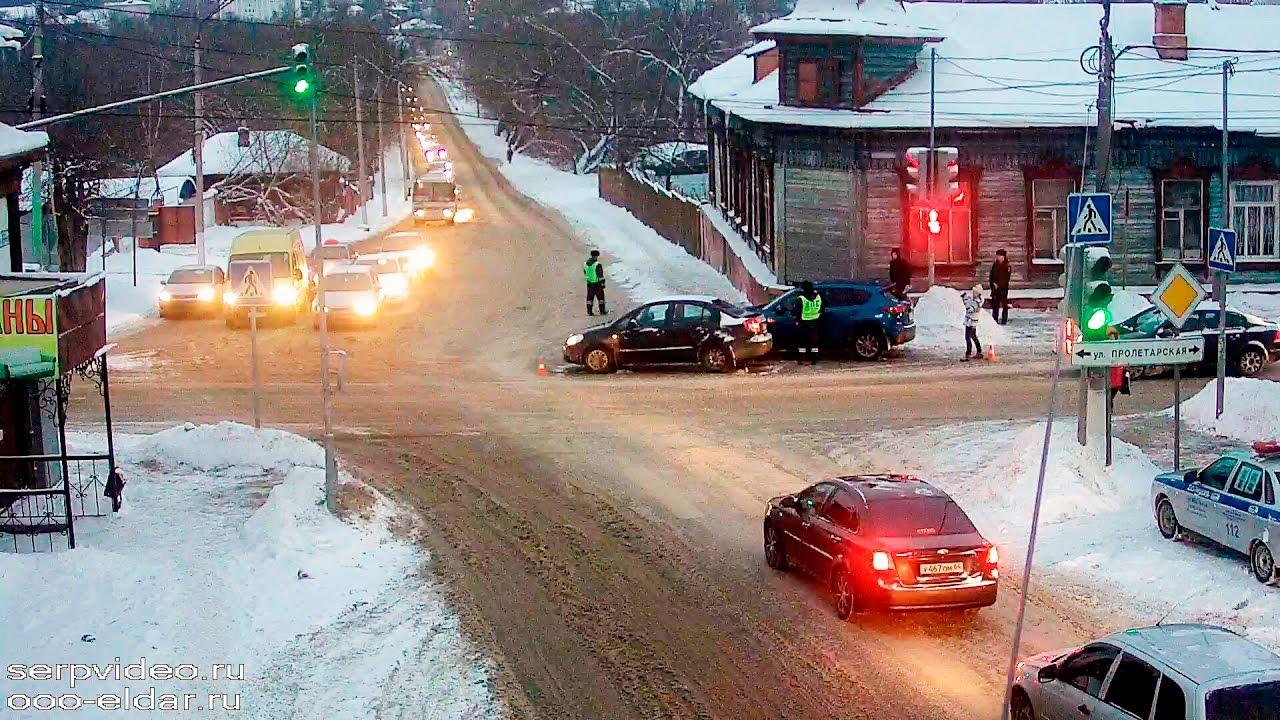 ДТП в Серпухове. Резко остановилась... 13 января 2017г.