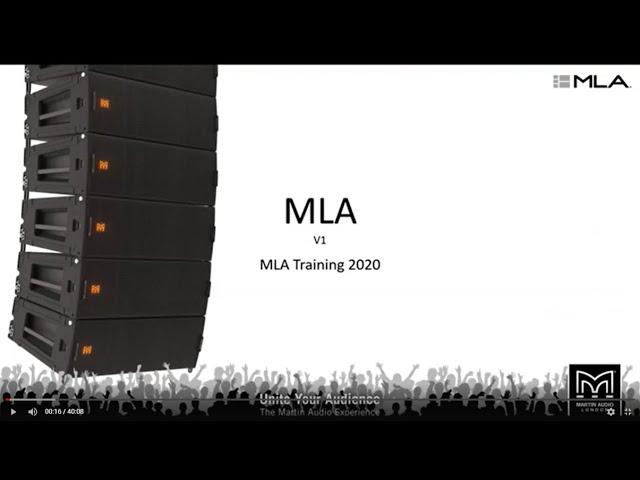 MLA - Multi-cellular Loudspeaker Array Webinar Training