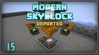 Modern Skyblock 3 Departed EP15 Simple Empowered Oil Automation