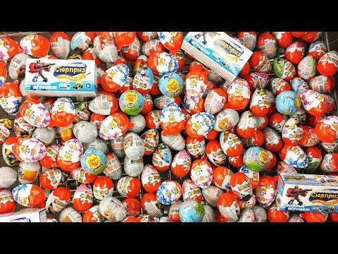 200 Киндер Сюрпризов / АСМР Успокаивающее видео для души / A Lot of Candy